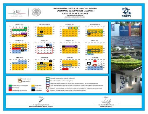 Calendario de Actividades Escolares DGETI 2014-2015-page-001