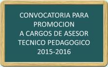 Convocatoria Asesor Tecnico Pedagógico