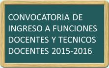 Convocatoria docentes 2015-2016