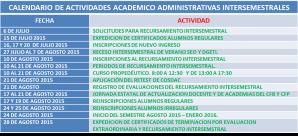 Actividades intersemestrales2015